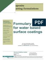 94401102 Water Based Surface Coatings Formulation