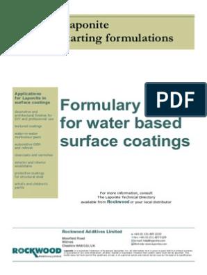 94401102 Water Based Surface Coatings Formulation   Paint   Acrylic