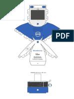 iMac G3 Blue Papercraft