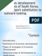 Economic Development Strategies of South Korea (2)