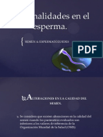 Anormalidades en El Esperma