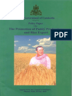 Promotion of Paddy Production and Rice Export of Cambodia