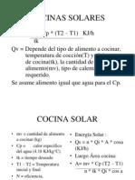 Tipos de Cocinas Solares