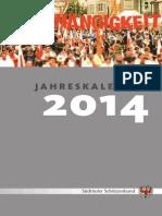 SSB Jahreskalender 2014