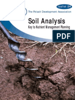 Soil Analysis - Key to Nutrient Management Planning