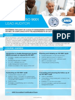 Certified ISO 9001 Lead Auditor - Four Page Brochure