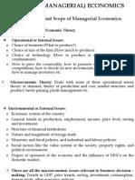 Business (Managerial) Economics