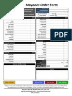 Mayones Order Form 2013