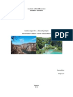 Analiza Comparativa a Doua Arii Protejate - Parcul Natural Portile de Fier Si Parcul National Plitvice