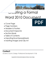 How to Create a Formal Word Document