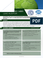 Certified ISO 14001 Lead Auditor - Four Page Brochure