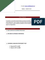 Raviranjan Latest Resume 1