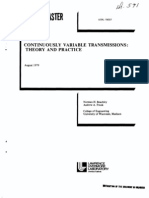 Continuously Variable Transmission Theory and Practies