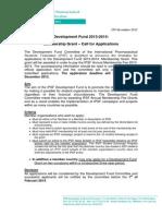 IPSF DF Membership Grant CALL 2013-2014