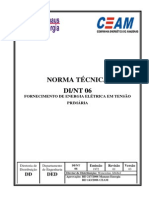 DI NT 06 - CEAM - FORNECIMENTO DE ENERGIA ELÉTRICA EM TENSÃO PRIMÁRIA