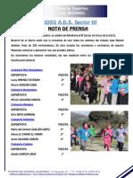 Nota Prensa Cross Ads Sector III 2013