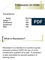 Impact of Recession on Hotel Industry