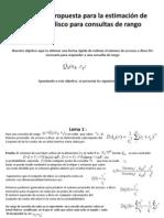 La fórmula propuesta para la estimación de accesos( lemas )