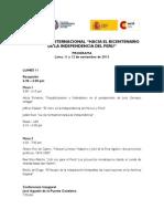 Programa v Coloquio Bicentenario EMBAJADA