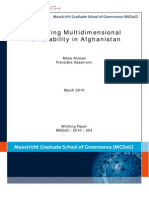 Measuring multidimensional vulnerability in Afghanistan