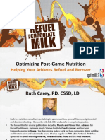 Chocolate Milk Chill Final Presentation - Nutrition for Recovery