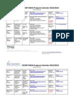 CSCMP India Program Calendar 2013-14