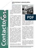 Contacto Foro - Julio 2013