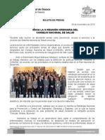 28/11/13 INICIA LA IV REUNIÓN ORDINARIA DEL CONSEJO NACIONAL DE SALUD