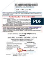 Buletin Parohial 1 Decembrie 2013