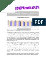 India Q2 GDP Growth at 4.8 -VRK100-29Nov2013