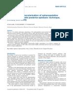 Endoscopic Devascularisation of Sphenopalatine