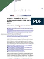 ''Product of the Year'', TMC, Internet Telephony Magazine, 2006