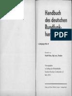 Handbuch Des Deutschen  Rundfunk- Handels       1. Jahrgang 1936 / 37