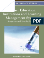 Higher Education Institutions and Learning Management Systems