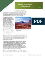 desert and tundra ecosystems