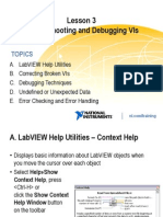 Lesson 3 - Troubleshooting and Debugging VIs