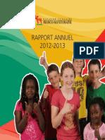 DSFM - Rapport Annuel 2012-2013