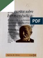 Dos Escritos Sobre Hermeneutica