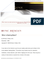 What is Healing Music