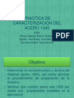 Practica de Caracterizacion Del Acero 1045