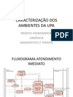 caracterização dos ambientes da UPA