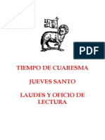 Jueves Santo Oficio y Laudes