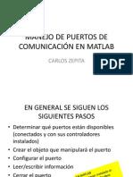 IMT540 MANEJO DE PUERTOS DE COMUNICACIÓN EN MATLAB
