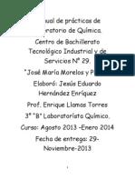 Manual de prácticas de Laboratorio de Química