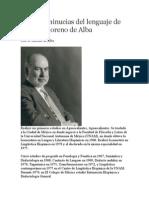 Algunas minucias del lenguaje de José G. Moreno de Alba