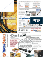 Watts Radiant Onix Tubing Brochure