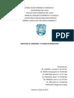 Servicios Al Personal y Planes de Beneficios Informe 3 Recursos Humanos