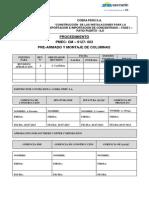 Procedimiento Pre-Armado y Montaje de Columnas_rev01