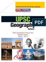 Download UPSC IAS Mains LAST 10 Year Papers Geography