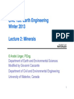 Lecture 2 - Minerals (Chapter 3)